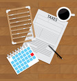 accounting tax forms vector image