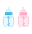 baby bottles isolated vector image