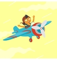 Baby Flying On a Plane vector image vector image