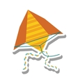 beautiful kite flying isolated icon vector image