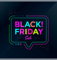 black friday sale poster design sale banner vector image