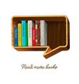 Bookshelf in the form of speech bubble vector image vector image