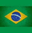 brazil flag background for russian soccer event vector image vector image