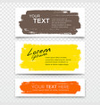 business card brush stroke colorful set vector image vector image