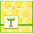 Card with lemon slices pattern vector image vector image