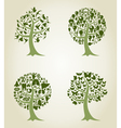Collection of trees5 vector image vector image