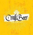 craft beer brewery artisan creative stamp vector image vector image