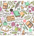 Diary Seamless Pattern vector image vector image