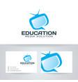 education media logo design vector image vector image