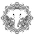 elephant boho pattern vector image