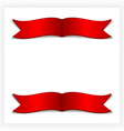 festive card with ribbons vector image vector image