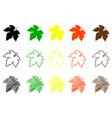 fig leaf color set vector image vector image