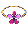 flower gold ring icon cartoon style vector image