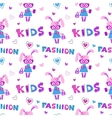 Funny fashion kids seamless pattern vector image vector image