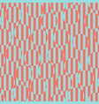 geometric seamless pattern blue and coral optical vector image vector image