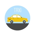 graphic taxi car flat design vector image