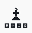 grave icon halloween set simple sign vector image