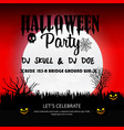 halloween party invitation design card vector image