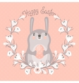 Happy Easter card with cute bunny vector image vector image