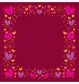 hearts and flowers frame vector image vector image