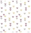 hearts seamless pattern valentine day background vector image vector image