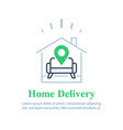 home delivery services move house find apartment vector image