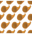 horn of plenty pattern vector image vector image