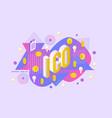 ico text design - isometric vector image vector image