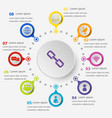 infographic template with network icons vector image