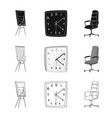 isolated object furniture and work logo vector image vector image