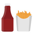 Ketchup and french fries vector image vector image