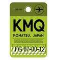 komatsu airport luggage tag