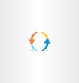 letter o arrow logo vector image vector image