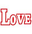 love online icon vector image vector image