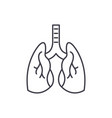 lungs line icon concept lungs linear vector image