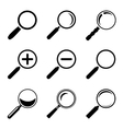 Magnifier Glass Icons vector image