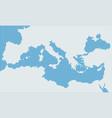 mediterranean sea pixel gray map vector image