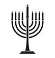 menorah icon simple style vector image vector image