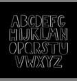 modern geometrical white bulky uppercase lettering vector image