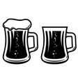 mug beer in engraving style design element vector image vector image