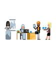 multiethnic business teamwork in office vector image