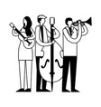 music people instruments vector image
