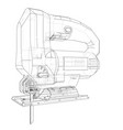 outline jig saw vector image vector image