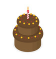 picture with birthday cake vector image
