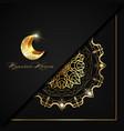ramadan kareem luxury black square invitation vector image vector image