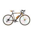 road bike in flat style vector image vector image