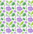 seamless background design with purple flowers vector image vector image