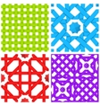 Seamless patterns set with colored crossed ribbons vector image