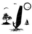 set elements vacation in tropics vector image vector image