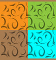 set of patterns from curls to represent natural vector image vector image